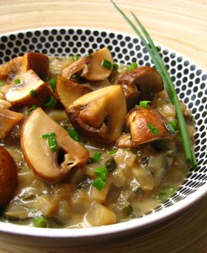 Potato and Leek 'Risotto' With Mushrooms