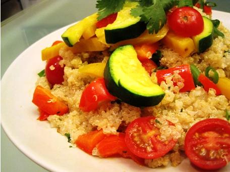 Colorful Veggie and Quinoa Salad
