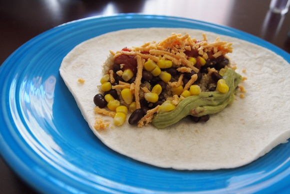 Quick and Easy Quinoa Burrito