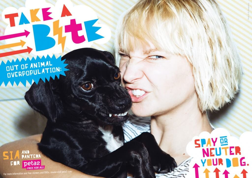 Sia: Take a Bite out of Animal Overpopulation - peta2