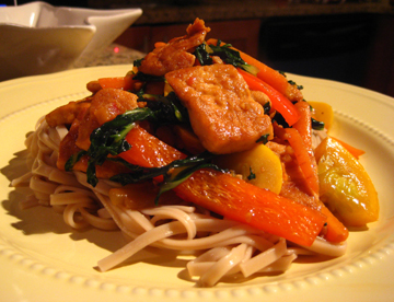 Garlic-Ginger Tofu Stir-Fry