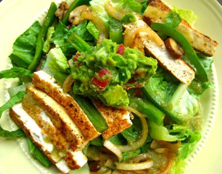 Spicy Tofu Taco Salads
