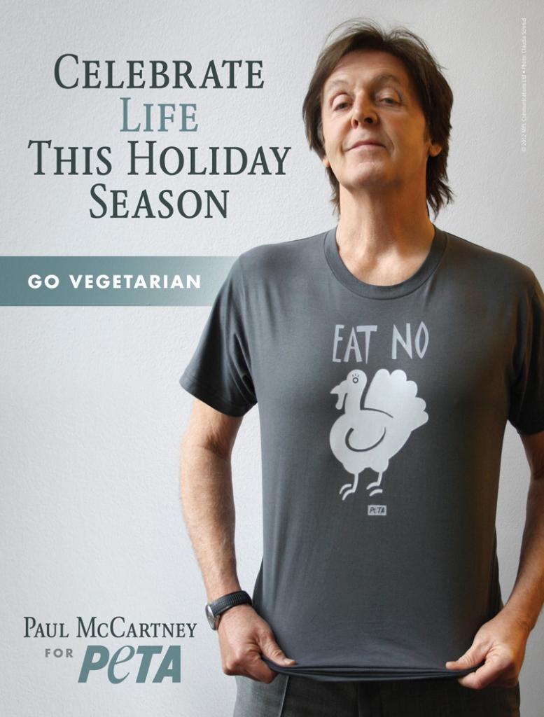 Paul McCartney Holiday Season Turkey PSA