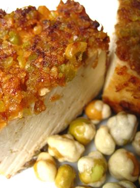 Wasabi Pea-Encrusted Tofu