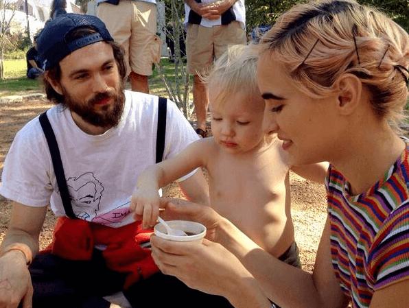 Alex Ebert and Family at Vegan Gumbo Festival