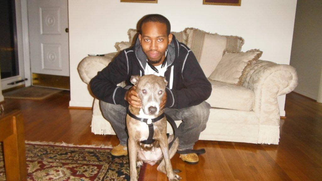 Blue the Pit Bull and Milton
