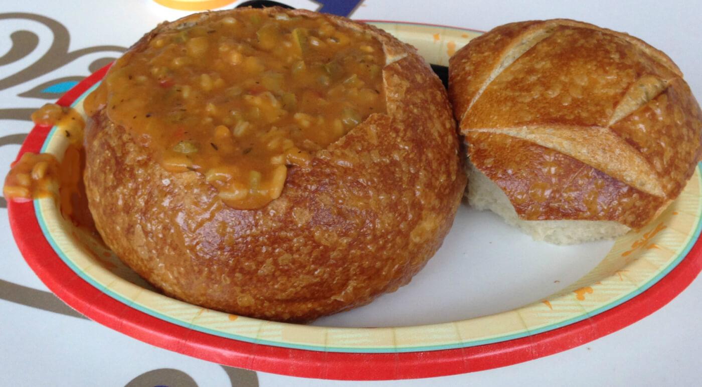 Gumbo Bread Bowl