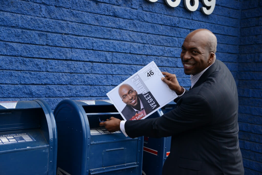 John Salley at 2013 Stamp Launch