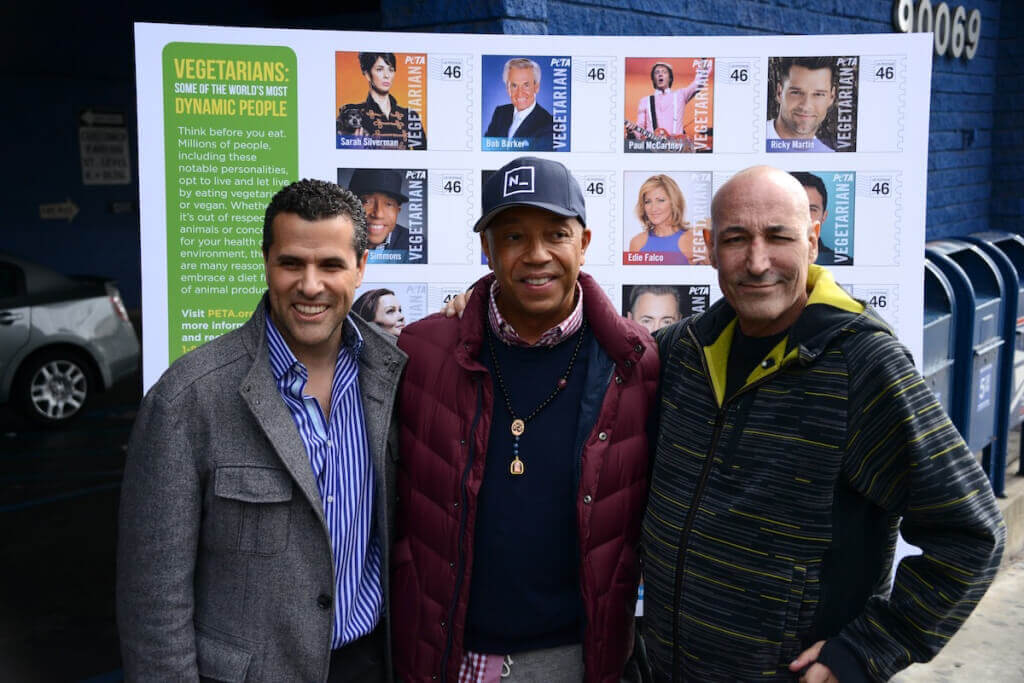 Marco Regil, Russell Simmons, Sam Simon at 2012 Stamp Unveil