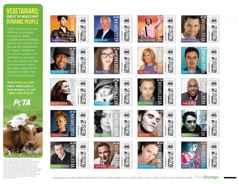 PETA Stamps 2013