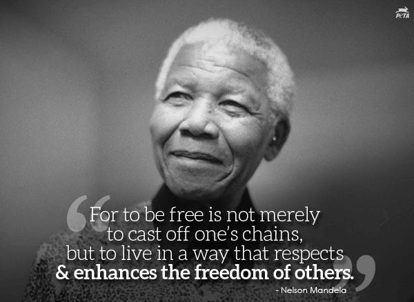 Peta Joins The World In Mourning Nelson Mandela Peta