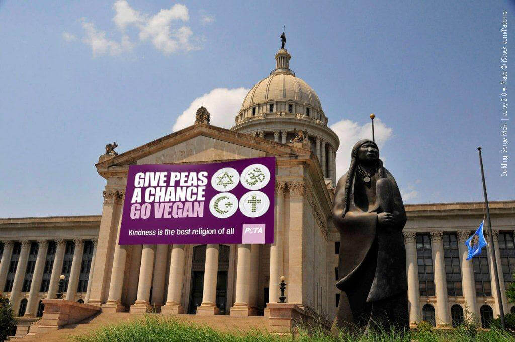 Oklahoma Capitol Give Peas a Chance