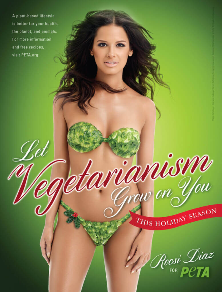 Rocsi Diaz Holiday Veg Ad