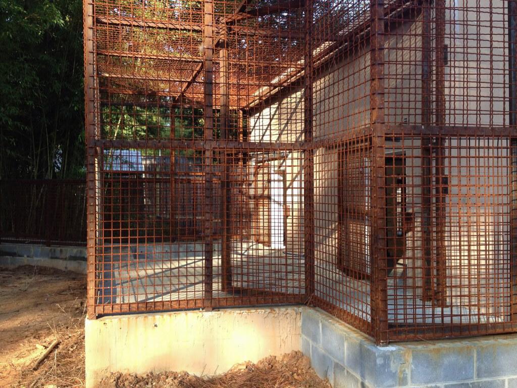 Rusted enclosure