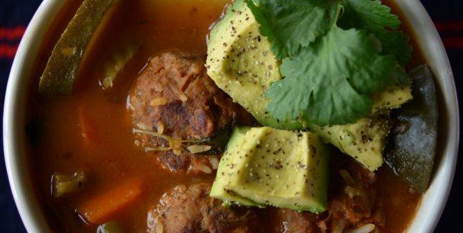 Vegan Albóndigas (Meatball) Soup