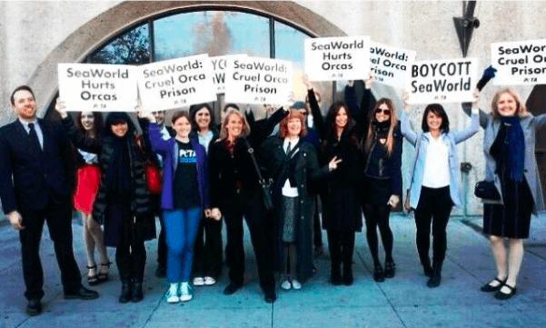 Seaworld Protest Supporters in Pasadena