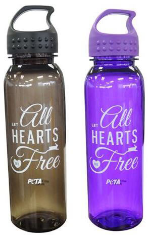 All hearts be free water bottles
