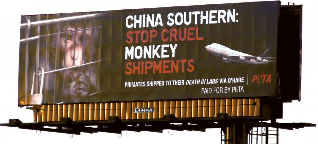 China Southern Cruelty Billboard