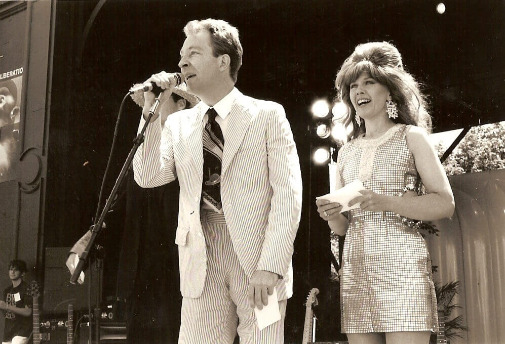 Fred and Kate from the B52s