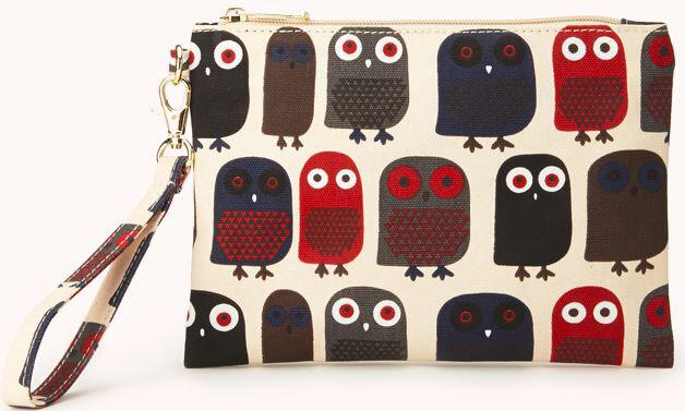 Owl wristlet Forever 21