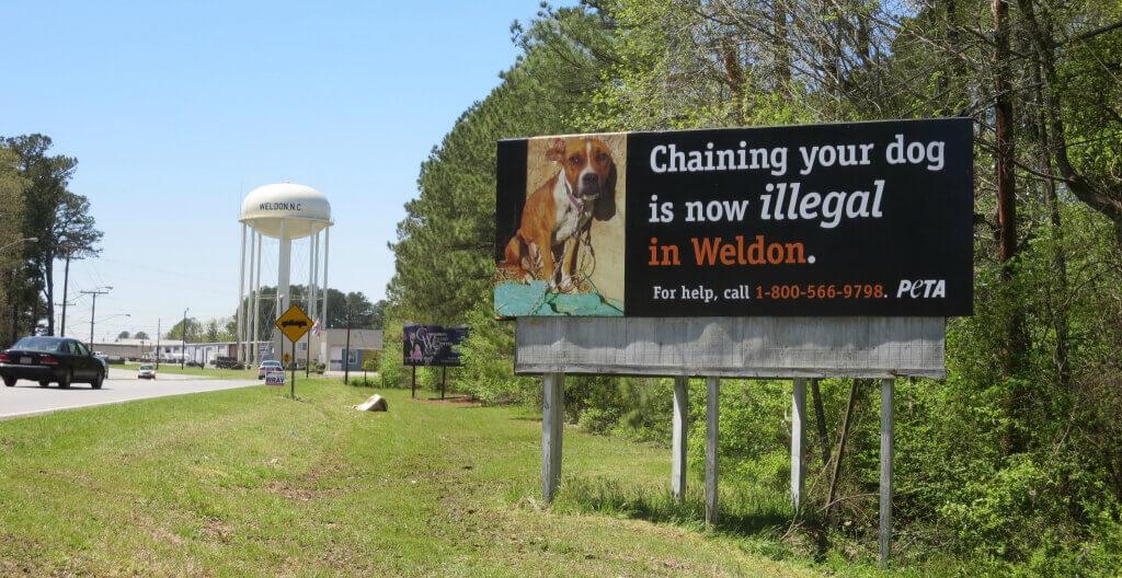 Anti-Chaining Billboard in Weldon, NC