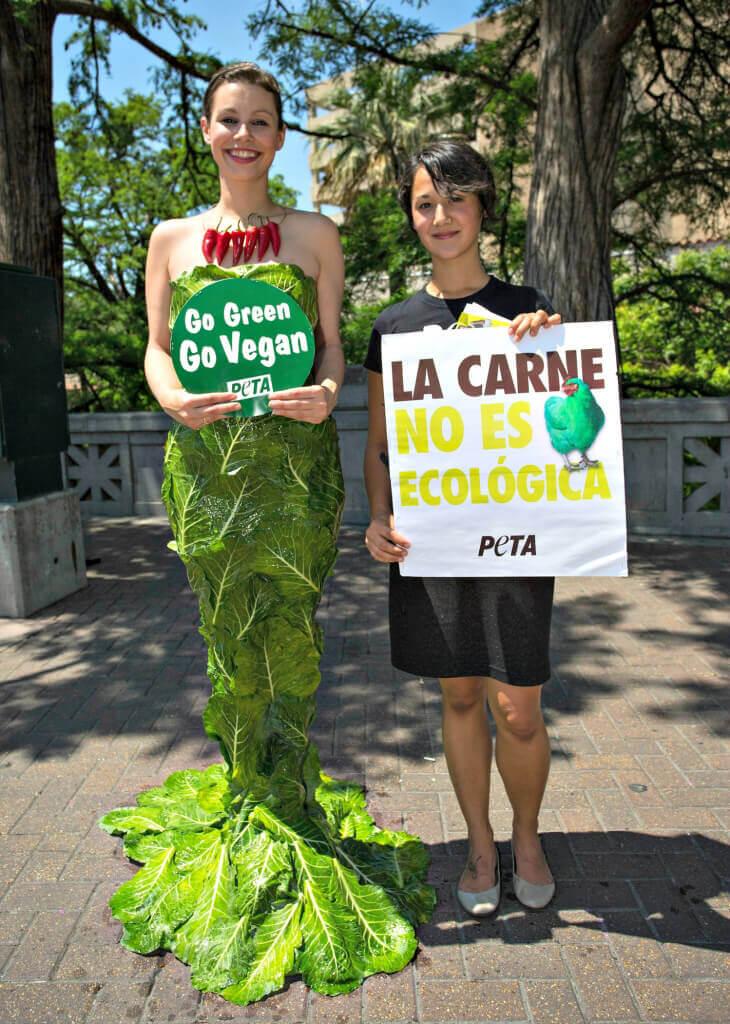 Earth Day Beauty Wearing Collard Greens Gown in San Antonio