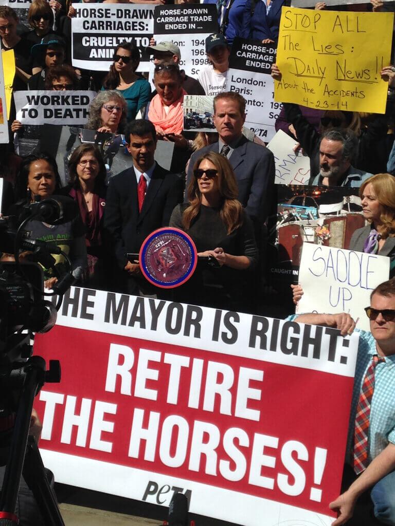 Jillian Michaels Speaking at New York Rally