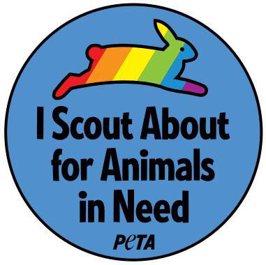 PETA Boy Scouts Badge