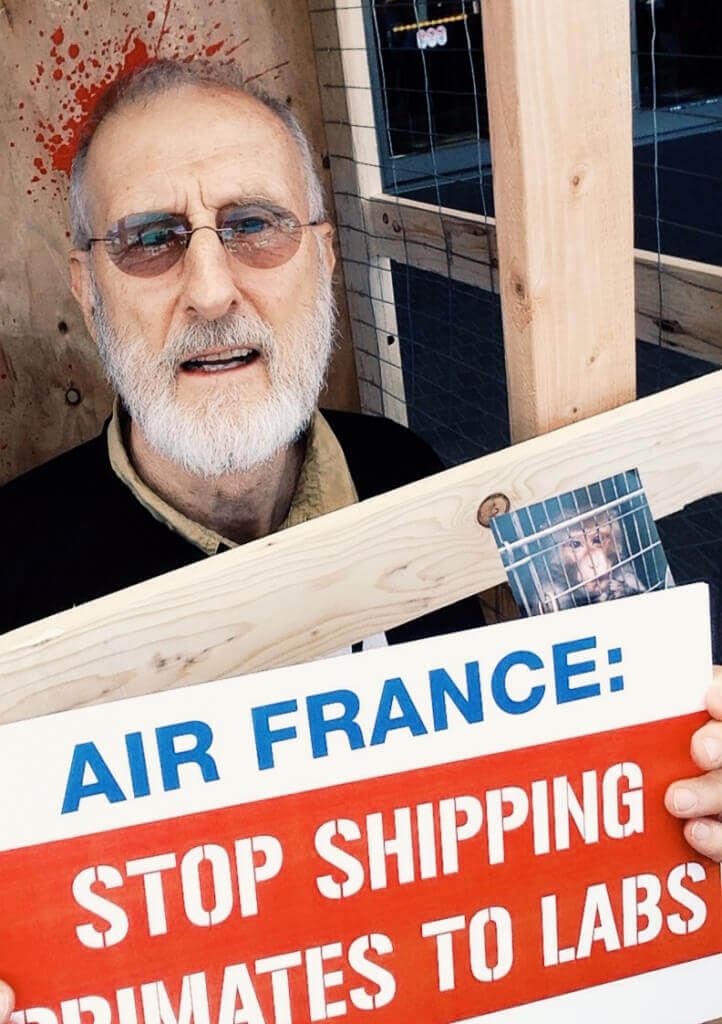 James Cromwell at LAX Air France Demo