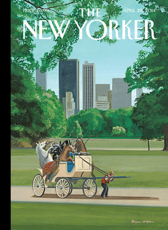 The New Yorker Horse-Drawn Carriage Cover