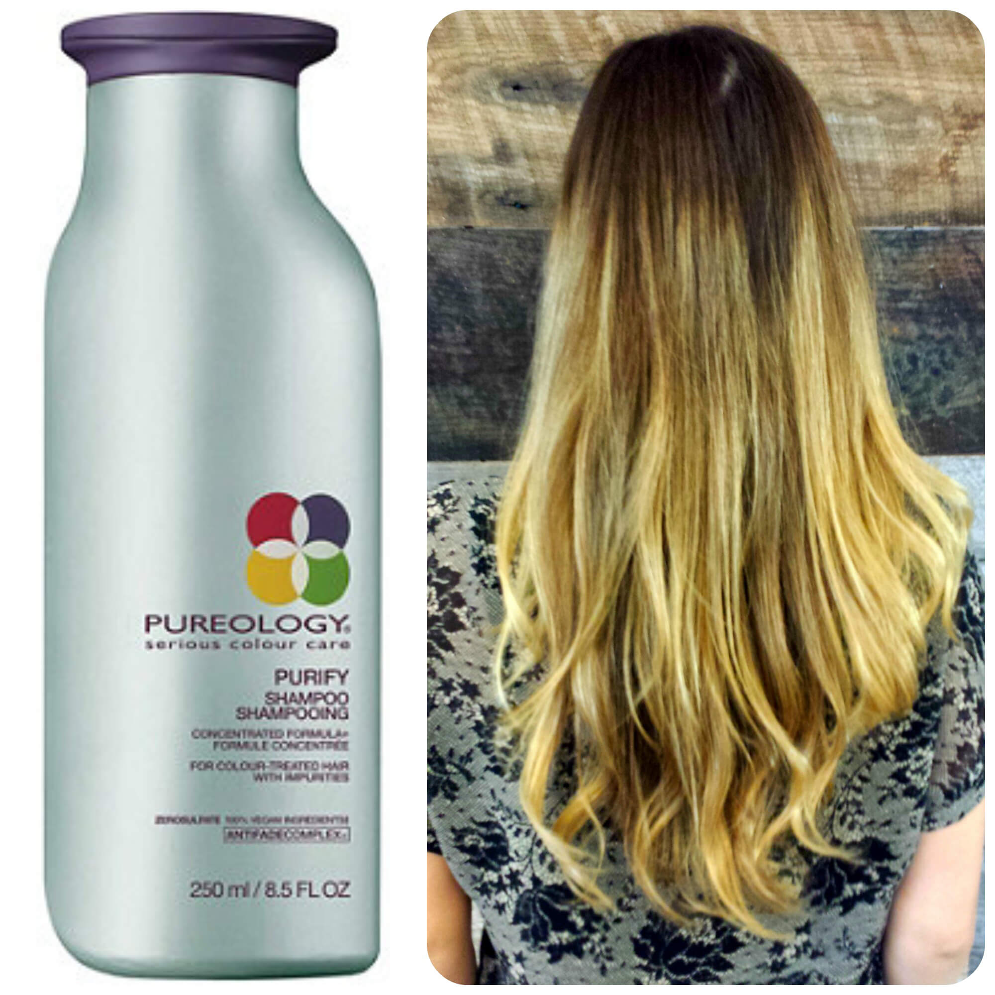 Color treated hair Pureology