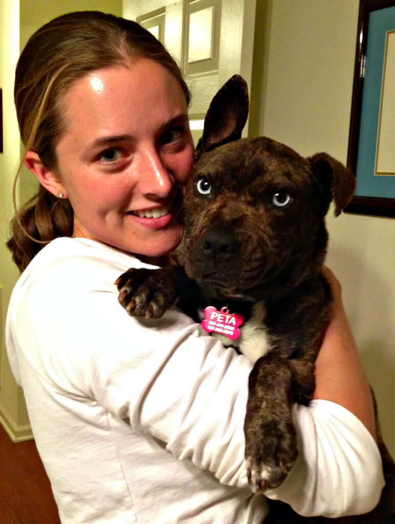Macey the Dog with Foster Parent