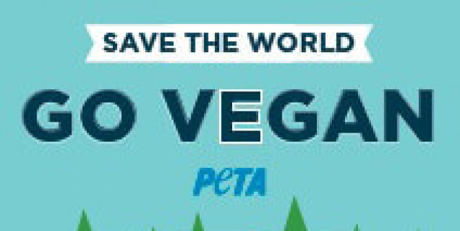 Save the World: Go Vegan (Electric Car Charger)