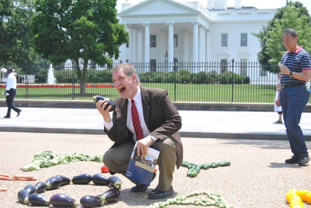 Lobbyist at Eat Your Veggies Demo