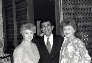 Casey Kasem with actors Peggy McCay (left) and Rue McClanahan (right) in Las Vegas showed support for PETA during our trial against orangutan beater Bobby Berosini.