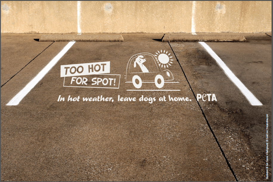 """""""Too Hot for Spot"""" Stencil"""