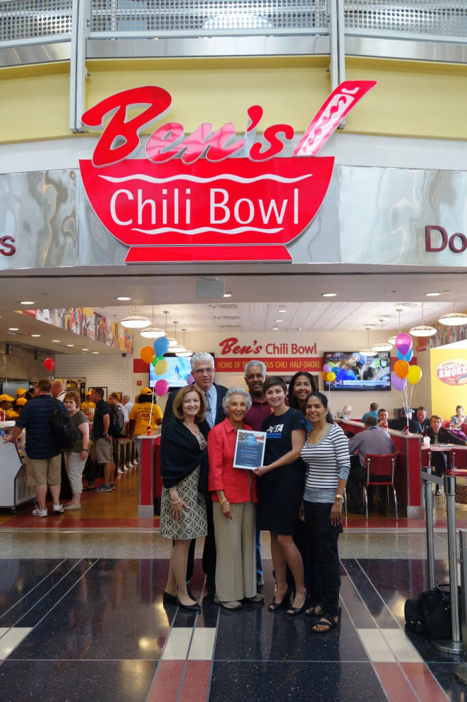 Ben's Chili Bowl Accepts 'Best of Reagan' Award