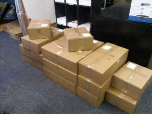 Boxes of Postcards Rejected by NIH