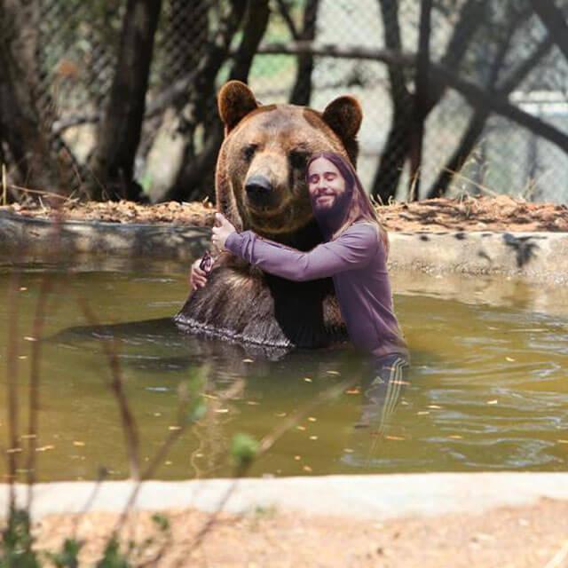 Jared Leto Hugging Ben Bear
