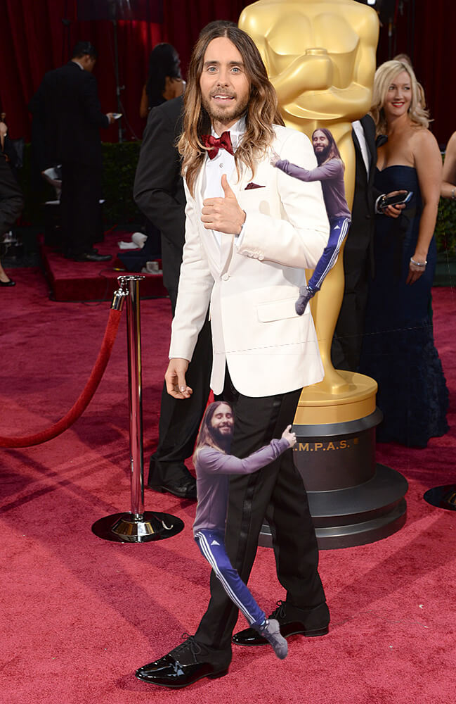 Jared Leto Hugging Himself