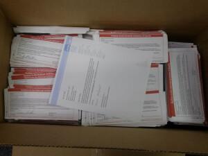 Postcards returned by NIH