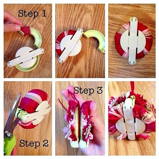 DIY Pom-Pom steps
