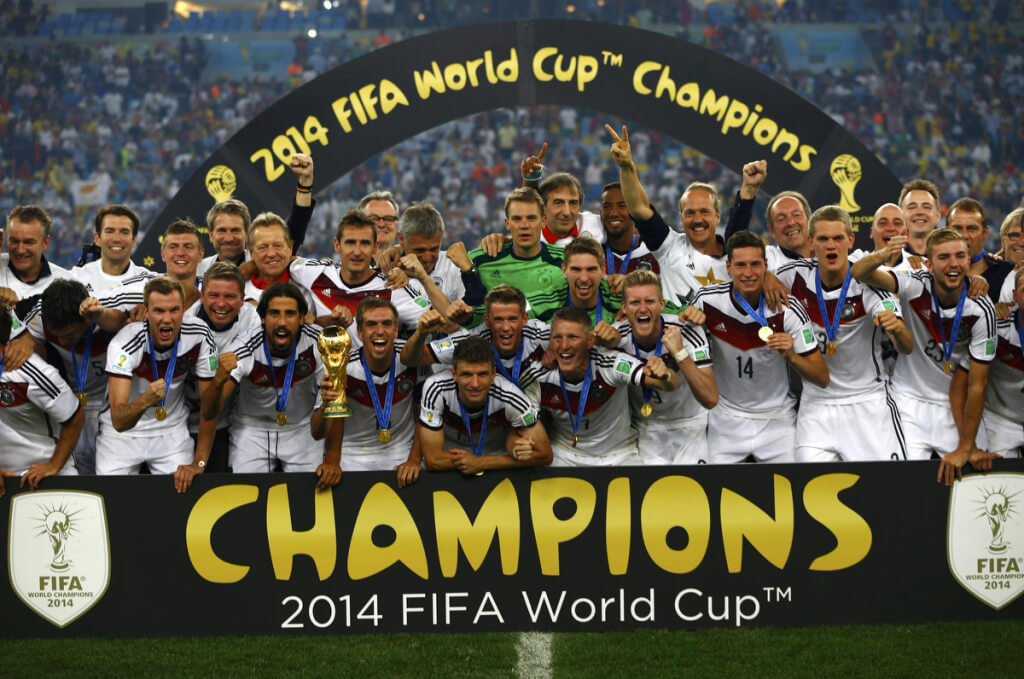 Team Germany World Cup 2014 with Medals