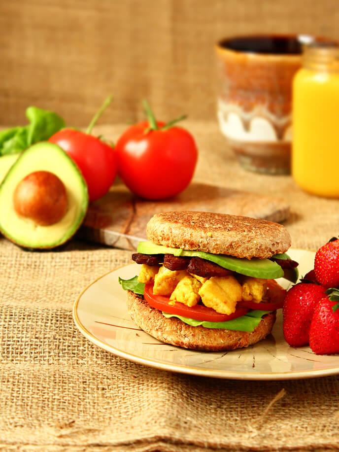 Breakfast Sandwich, I Love Vegan
