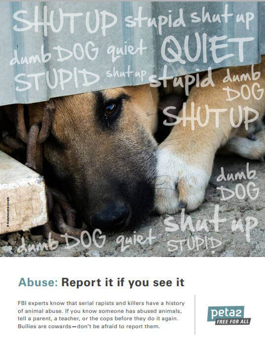 peta2 Dog Abuse Poster