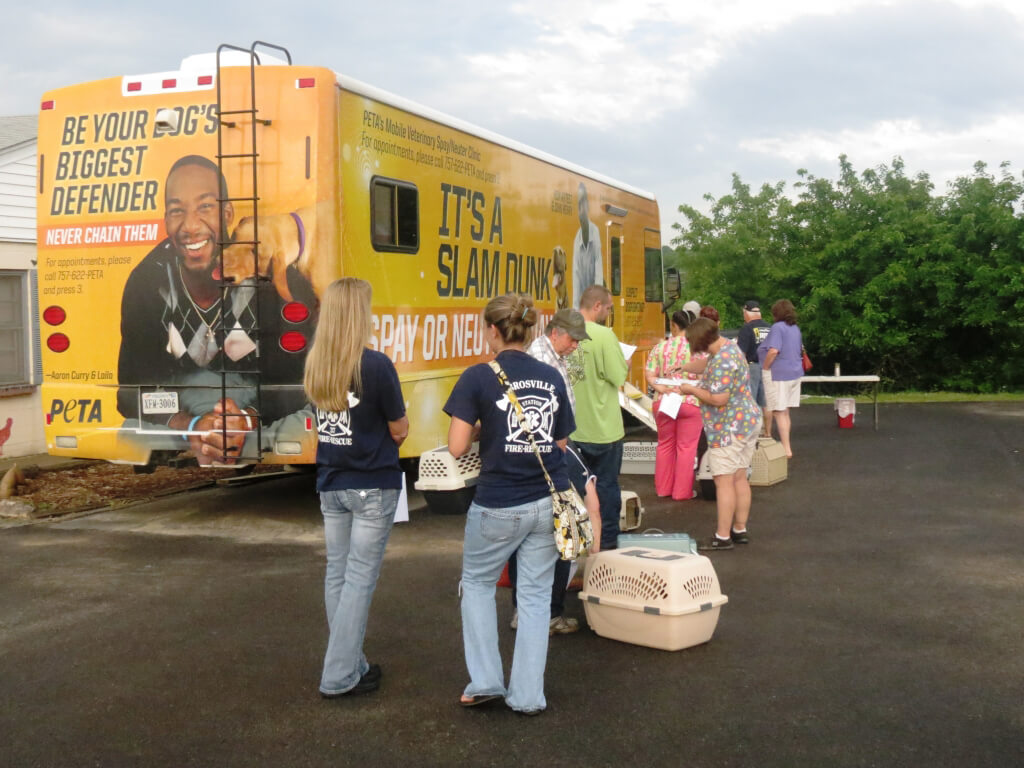 Check-In at PETA's Mobile Clinic