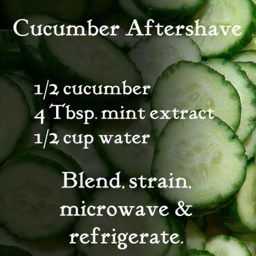 DIY Cucumber Aftershave