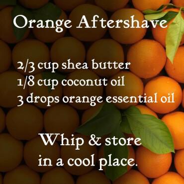 DIY Orange Aftershave