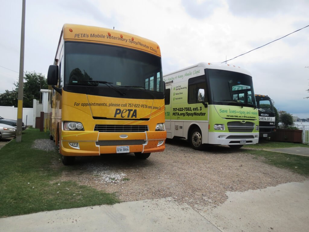 Parked PETA Mobile Clinics