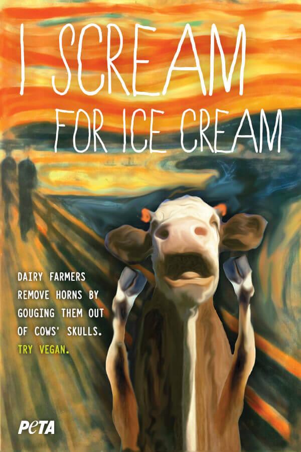 "Cow ""Scream"" Painting"